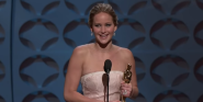 Why Jennifer Lawrence Feels Strongly About People Saying She 'Faked' That Time She Fell At The Oscars