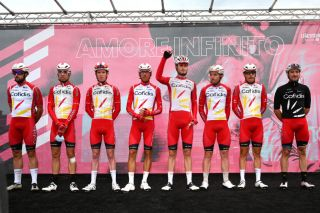 Cofidis line up for stage 12 of the 2020 Giro d'Italia