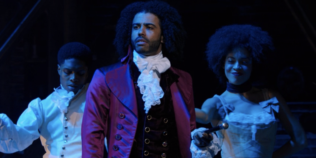 Thomas Jefferson (Daveed Diggs) looks out into the audience as he sings 'What Did I Miss?' during 'Hamilton.'