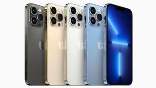 iPhone 13 Pro i fyra olika färger