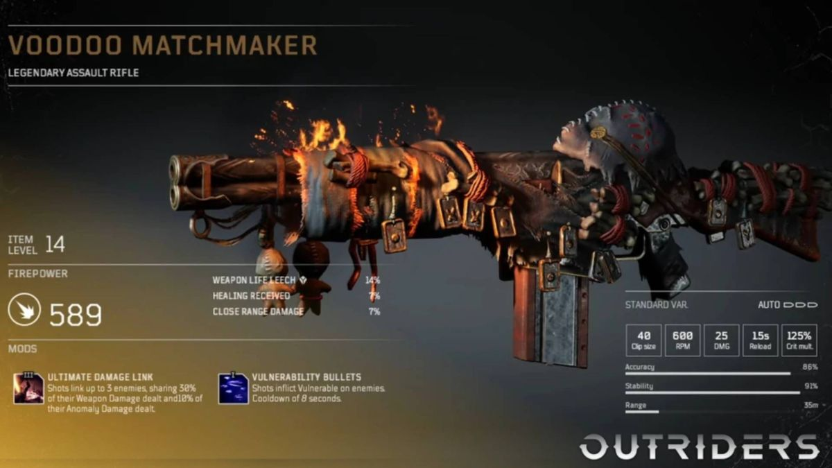 Outriders is giving out free Legendaries to apologize for server issues