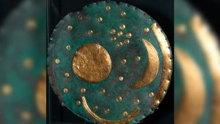 The Nebra Sky Disk of bronze decorated with gold is one of Germany's most famous archaeological artifacts. But a new study suggests it dates to the Iron Age, at least 1,000 years later than scientists had thought.