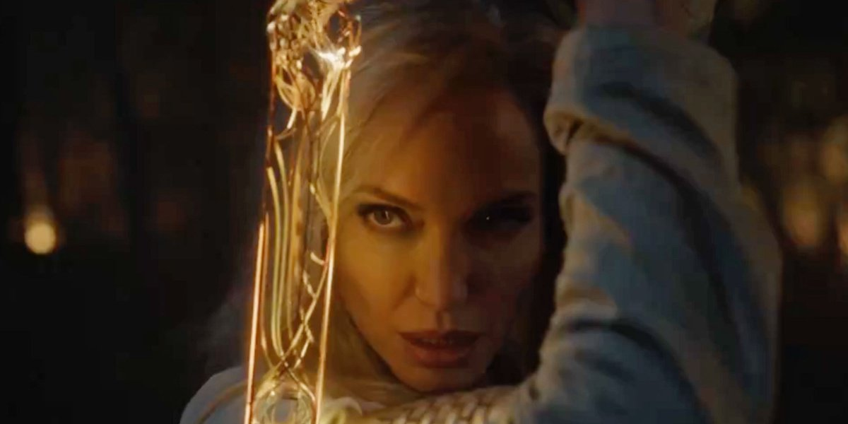 Angelina Jolie as Thena in the Eternals teaser.