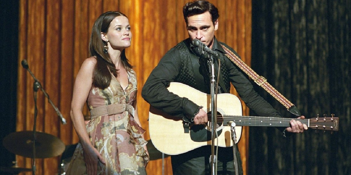 Reese Witherspoon as June Carter in the movie Walk the Line.