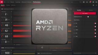AMD Ryzen CPU render on top of performance metrics in Radeon Adrenalin software