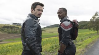 Sebastian Stan as Winter Soldier/Bucky Barnes and Anthony Mackie as Falcon/Sam Wilson in Marvel Studios' 'The Falcon and the Winter Soldier'