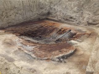 the roof of a 4,000-year-old burial chamber