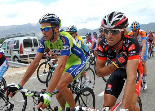 Ivan Basso, Alejandro Valverde, Vuelta a Espana 2009, stage eight