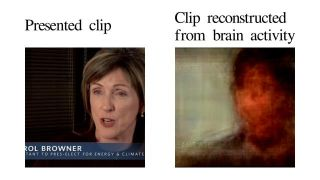 Researchers reconstruct movies from brain activity.