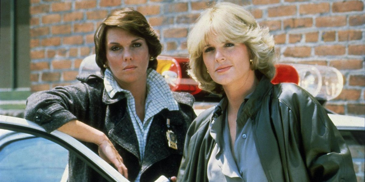 Tyne Daly and Sharon Gless in Cagney and Lacey