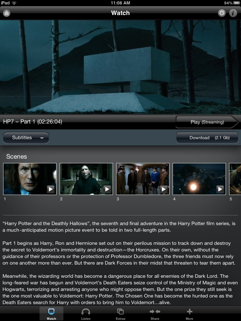 Deathly Hallows Part 1, Due Date Added To Warners App Store #17181