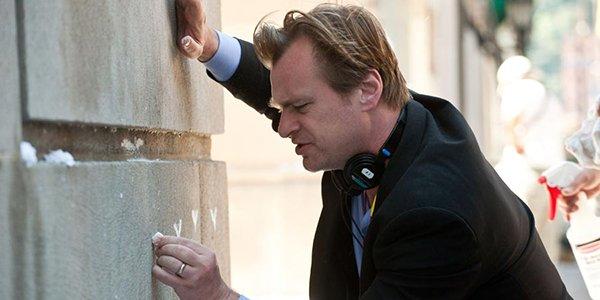 Christopher Nolan on the set of The Dark Knight Rises