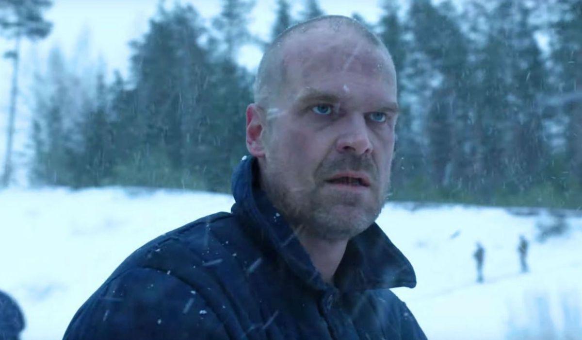 David Harbour as Hopper in Russia in Stranger Things Season 4 teaser