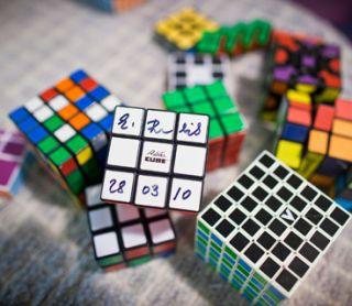 rubik's cube, puzzle, math