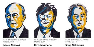 The Nobel Prize in Physics was awarded to a trio of scientists for their invention of blue light-emitting diodes (LEDs).