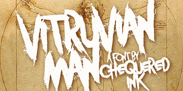 Free graffiti fonts: Vitruvian Man