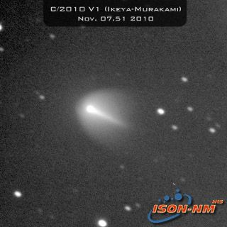 "Comet Ikeya-Murakami (C/2010 V1) appears to brightening, signifying it could be in the middle of an outburst. Furthermore, the comet's gaseous head or ""coma"" bears a striking resemblance to that of Comet Holmes, which experienced a dramatic brightening an"