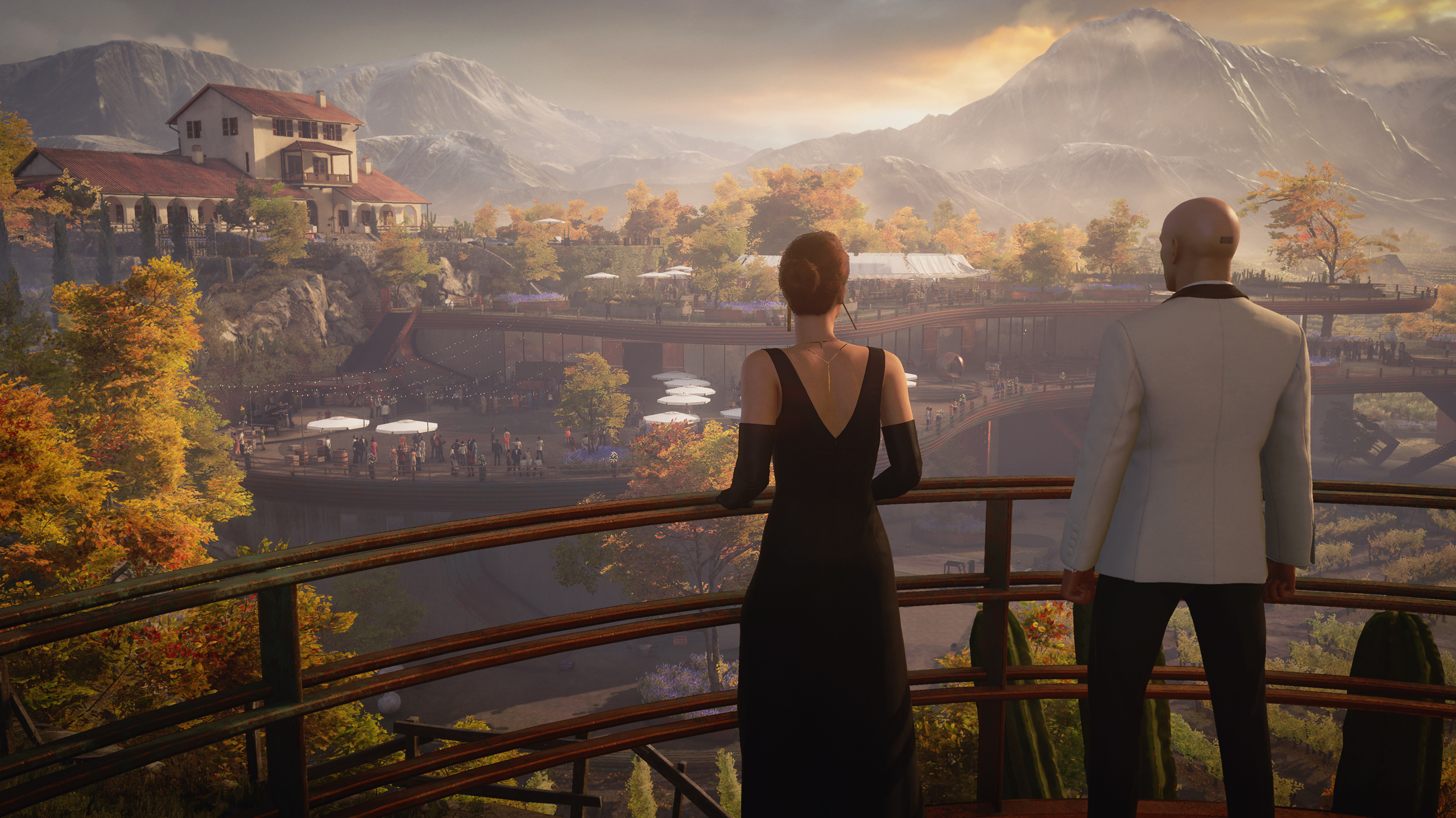 Yes, you can cram every NPC in Hitman 3's Mendoza map into a grape press