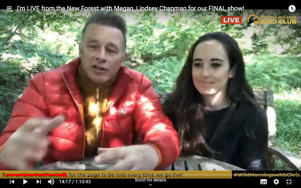 presenting springwatch with my step daughter megan is great says chris packham says chris packham