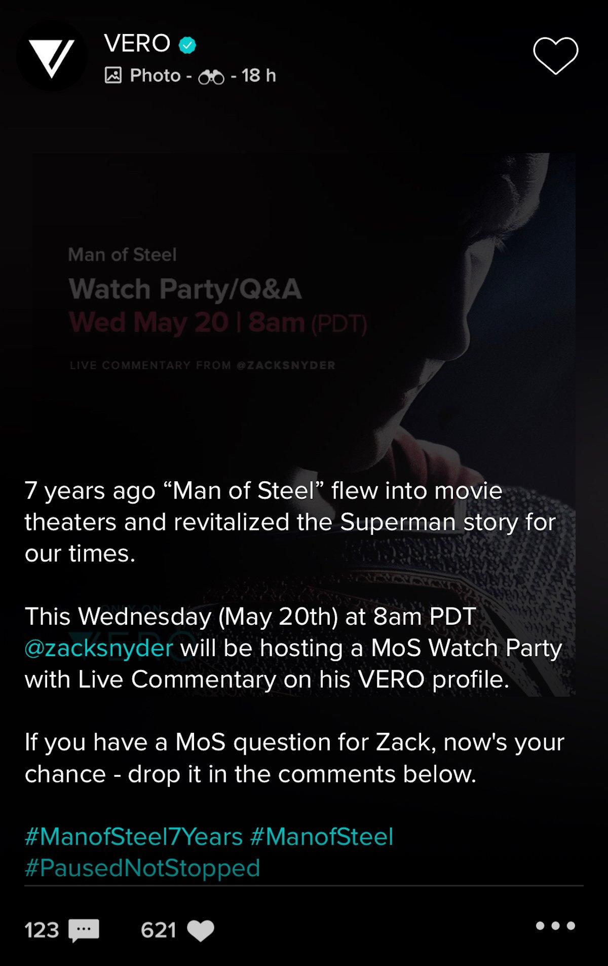 Man of Steel announcement