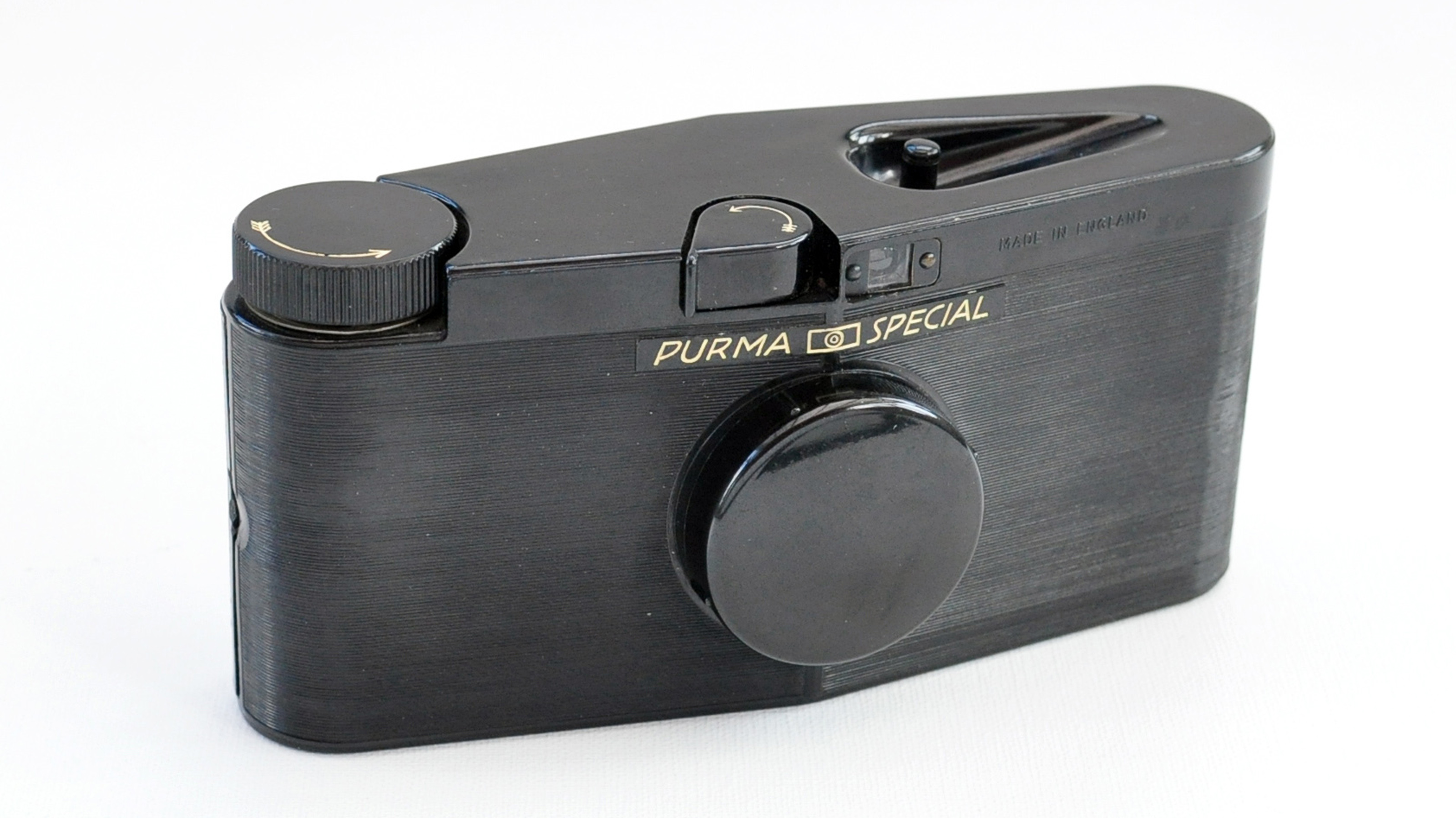 The front of the Purma Special camera