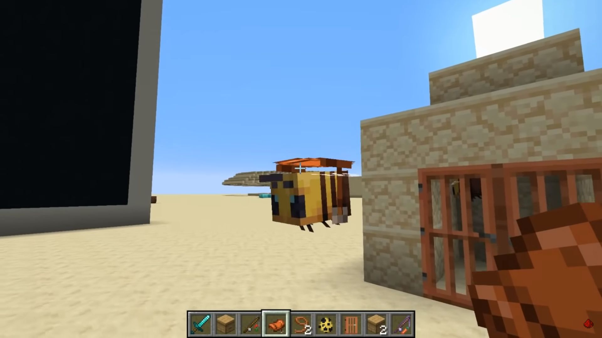Minecraft S New Bees Have Already Been Made Rideable Pc Gamer