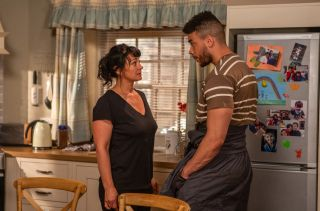 Tension crackles between Moira Barton and Nate in Emmerdale