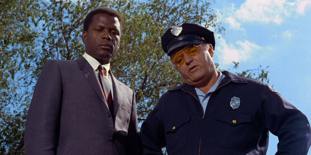 Sidney Portier and Rod Steiger in In the Heat of the Night