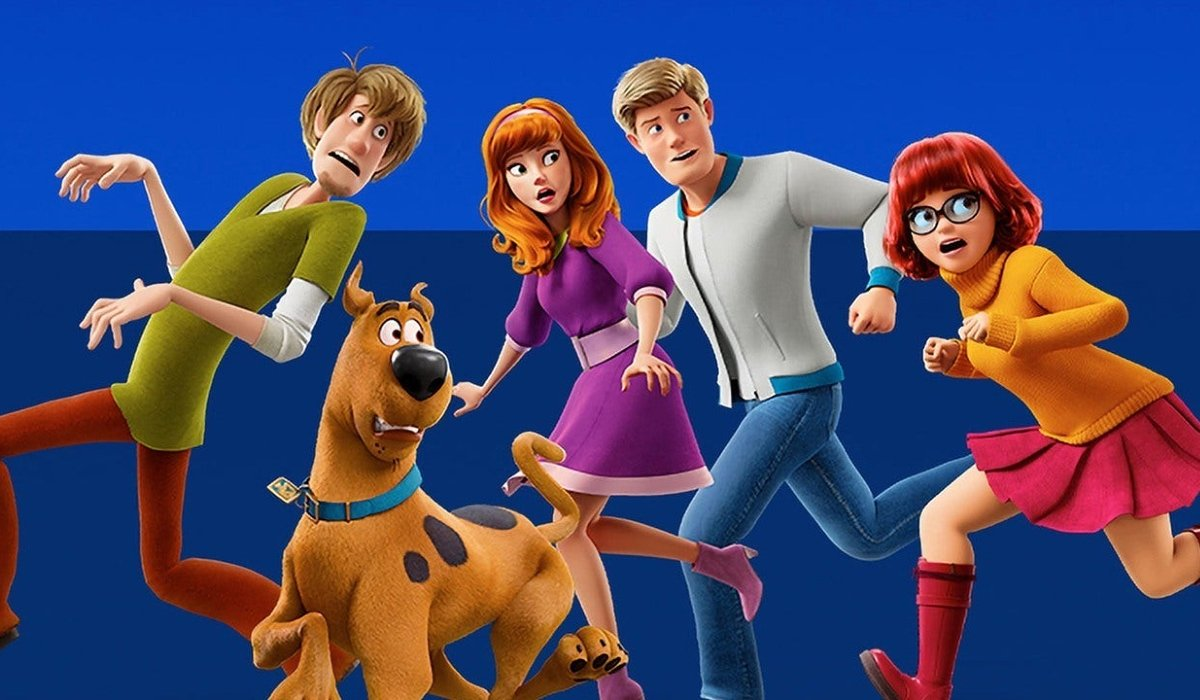 Scoob and the whole gang walking away from danger