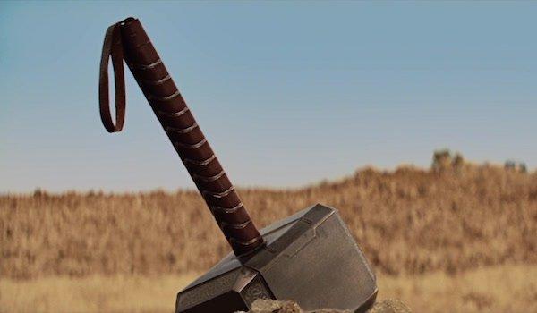 Thor's hammer in Iron Man 2