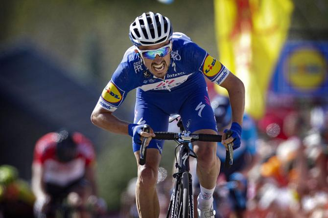 Julian Alaphilippe (Quick-Step Floors) wins 2018 Fleche Wallonne