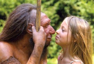 modern human and Neanderthal