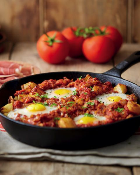 Olé! This patatas bravas and eggs recipe will spice up your staycation brunches
