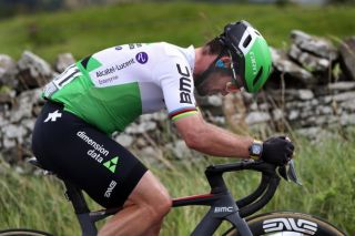 Dimension Data's Mark Cavendish pushes hard on stage 4 of the 2019 Tour of Britain