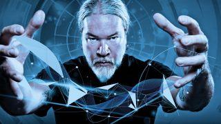 A photo of Meshuggah drummer Tomas Haake