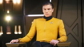 Captain Pike in the Star Trek Discovery season 2 premiere