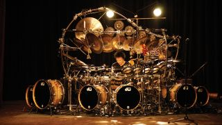 Now you see why it's called The Big Kit: Bozzio behind the masterpiece