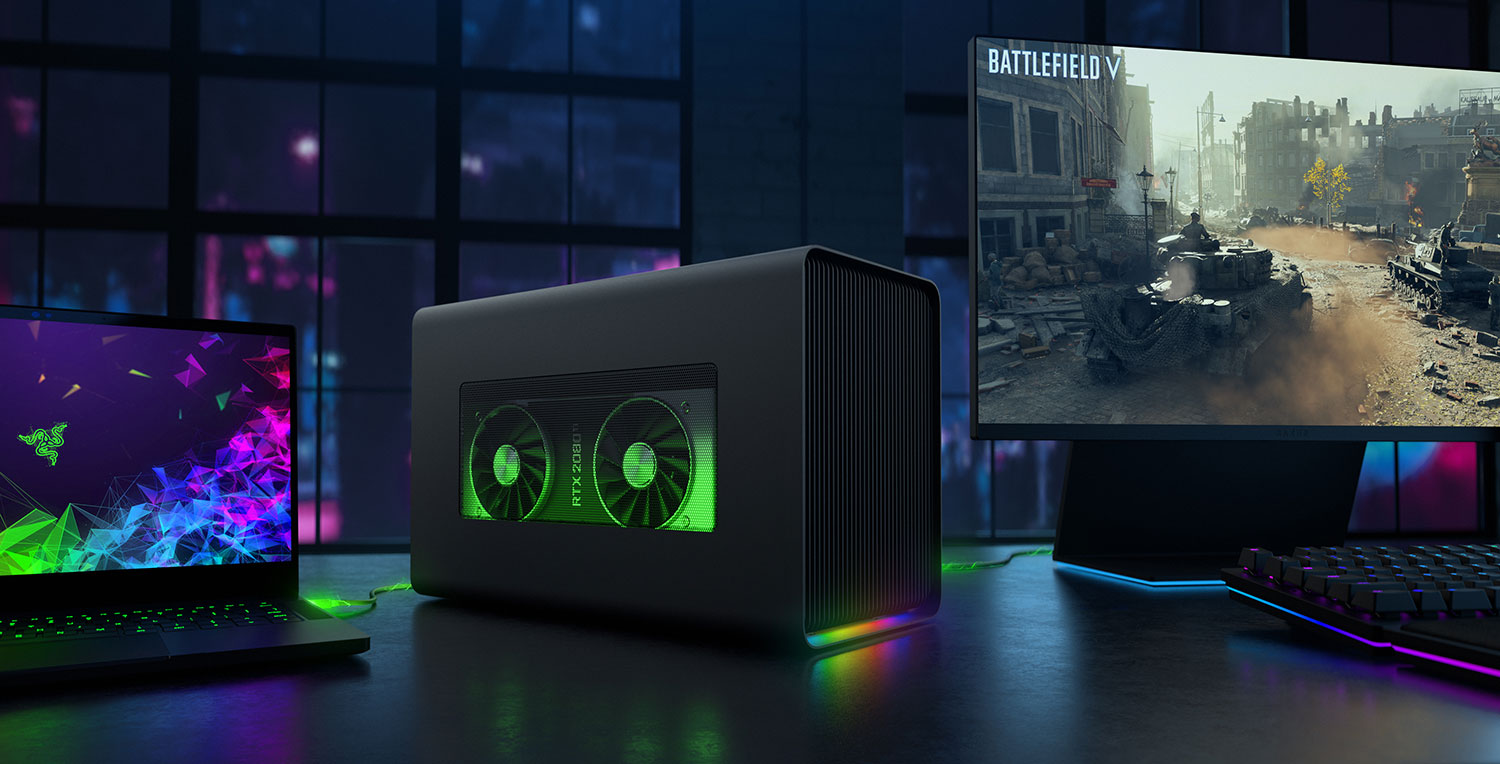 Razer upgraded its external GPU box with a bigger PSU and RGB lighting, costs $399