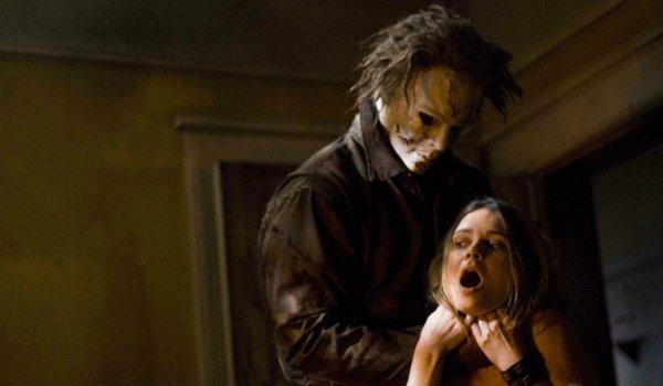 Micheal Myers choking Lynda Halloween