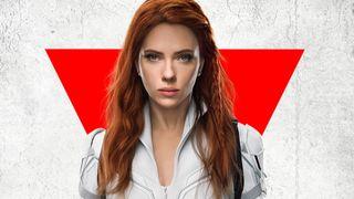 Scarlett Johansson in a poster for Black Widow