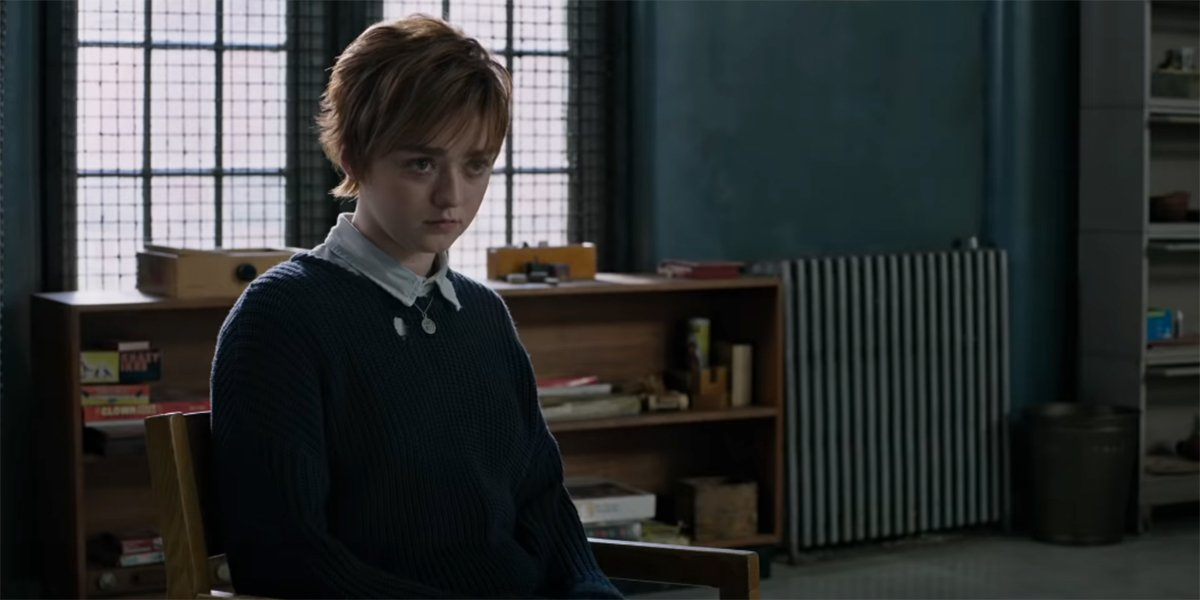 Maisie Williams in counseling in The New Mutants