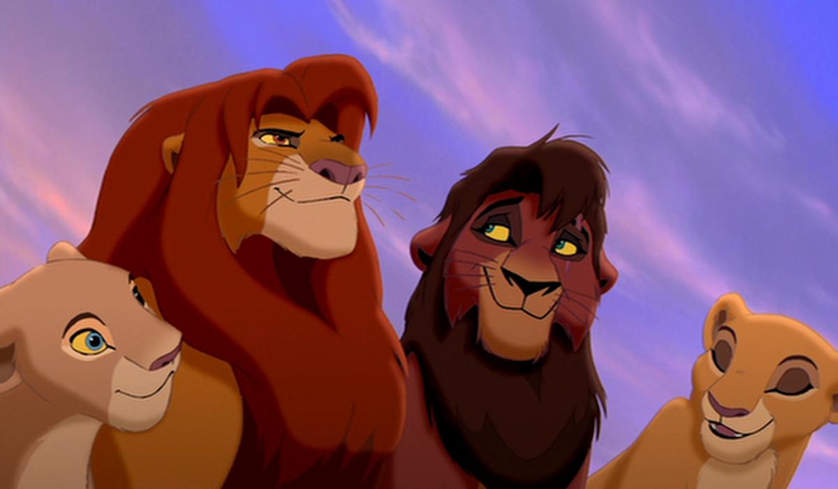 Nala, Simba, Kovu and Kiara in Lion King 2