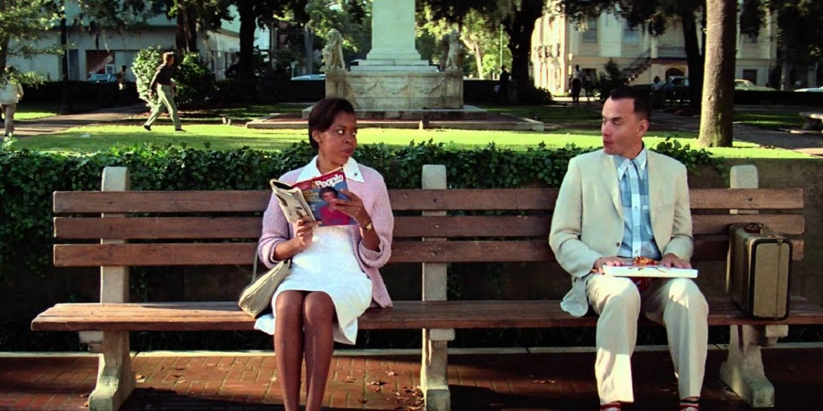 Tom Hanks and Rebecca Williams in Forrest Gump