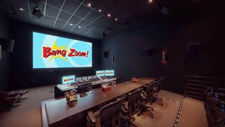 Dolby Atmos mix stage at Bang Zoom! Entertainment