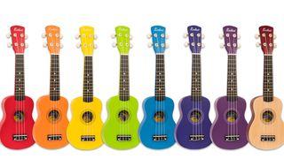 Laka Rainbow ukuleles