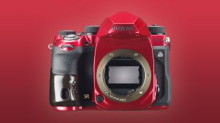 Pentax' latest camera is a red metallic monstrosity Pentax K-1 Mark II J Limited 01