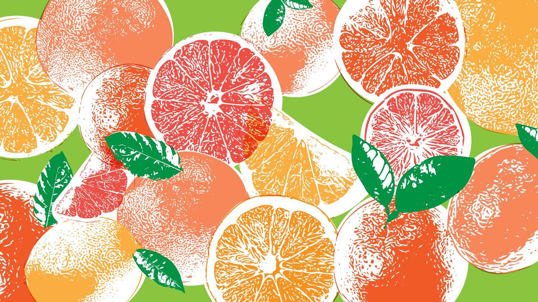 Pop Art illustration of oranges