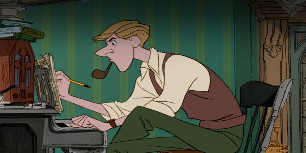 Roger writes sheet music in One Hundred and One Dalmations