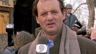 Bill Murray in _Groundhog Day._