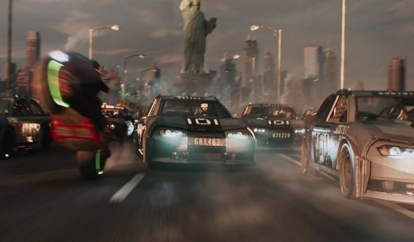 Ready Player One racing through New York for the Copper Key